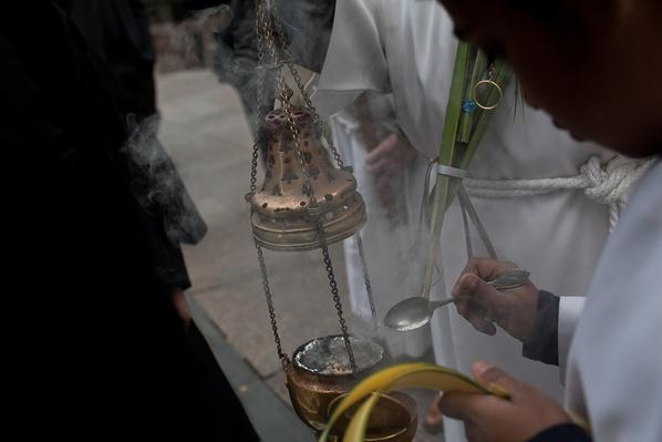 Incense is Burned During Palm Sunday March | Global Oneness Project