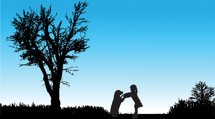Vector Silhouette of Children (#2) | Clipart
