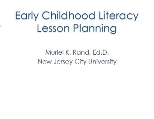 Early Literacy Lesson Plans