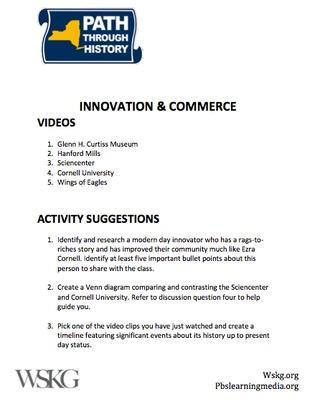 Innovation & Commerce Activities