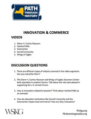 Innovation & Commerce Discusson Questions