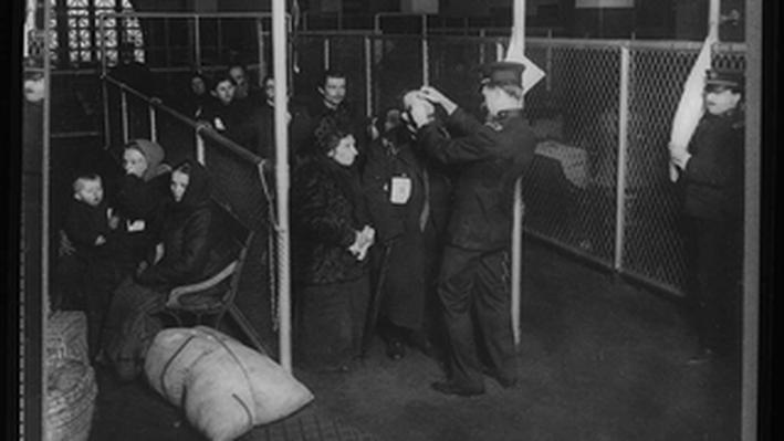 U.S. Inspectors Examining Eyes of Immigrants Ellis Island New York Harbor