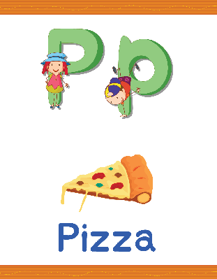 Alphabet Worksheets - P for Pizza | Clipart