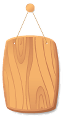 Wooden Boards on A Cord - 7 | Clipart
