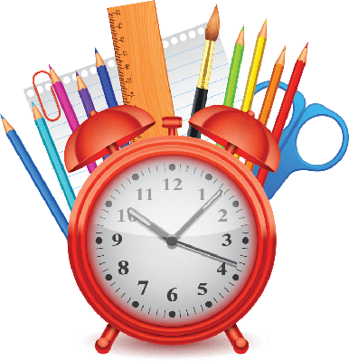 Image result for on time for school clipart