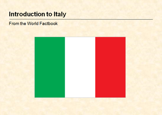 Introduction Guide to Italy