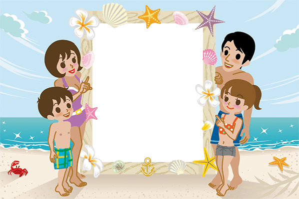 Swimwear Family and Message Board (#1) | Clipart