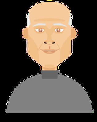 Men's Hair - Balding 3 | Clipart