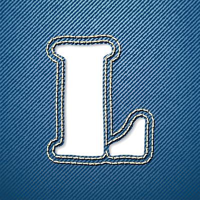 Denim Jeans: Letter L | Clipart