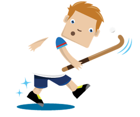 Children Playing Sports - Field Hockey | Clipart
