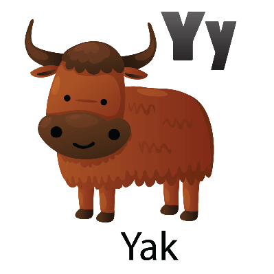 Animal Alphabet - Y for Yak | Clipart