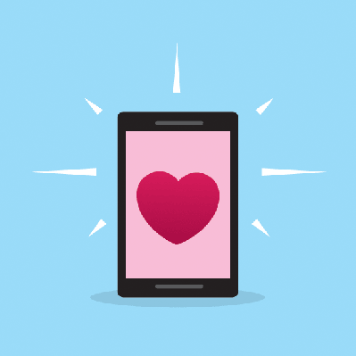 Phone Heart Screen | Clipart