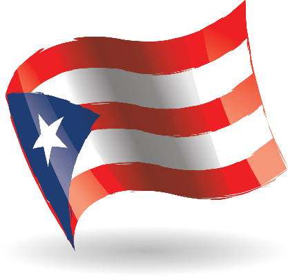 Puerto Rico Flag Waving | Clipart