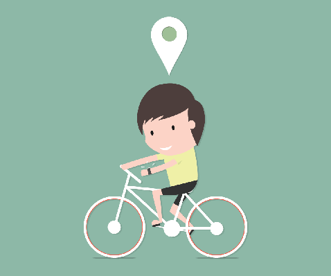 Cycling Exercise Modern Life Technology | Clipart