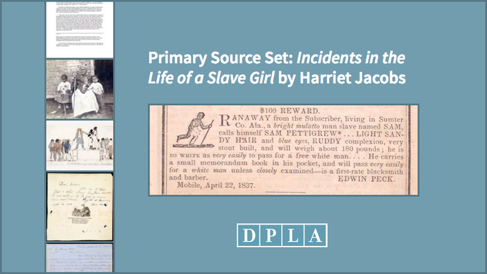an analysis of incidents in the life of a slave girl by harriet a jacobs as a primary source of info