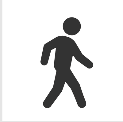 Athletics and Gymnastics Icon Set - Walking | Clipart