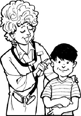Doctor Examines Boy | Clipart