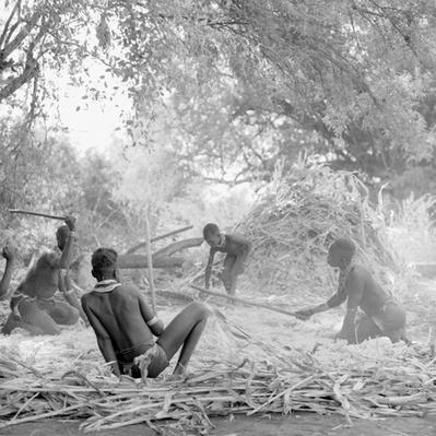 Kara women threshing sorghum sing while they work | Global Oneness Project