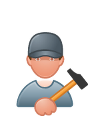 Professions - Color - Carpenter | Clipart