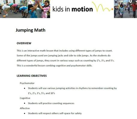 Jumping Math Lesson Plan