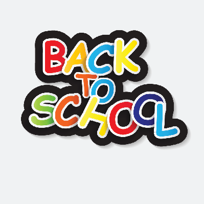 Back to School Label Concept (white background) | Clipart