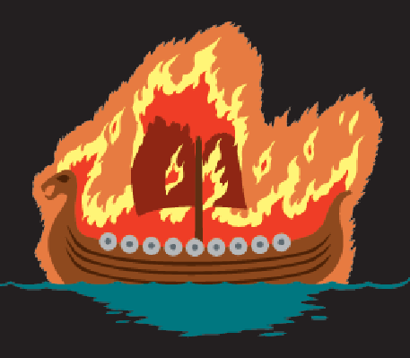 Viking Funeral | Clipart