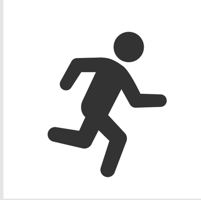 Athletics and Gymnastics Icon Set - Running | Clipart