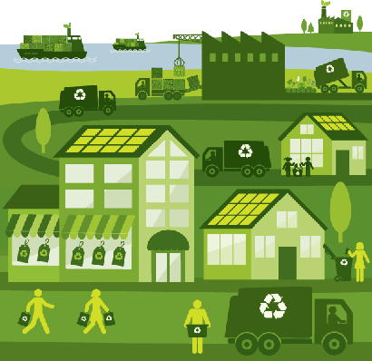 Cities - Green City | Clipart