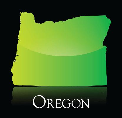 Oregon Green Shiny Map | Clipart