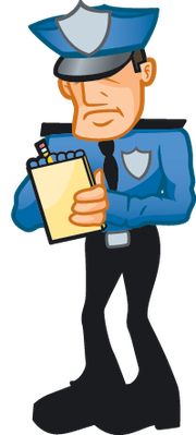Cop Writing Ticket | Clipart | The Arts | Image | PBS ...