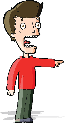 Cartoon Terrified Man | Clipart