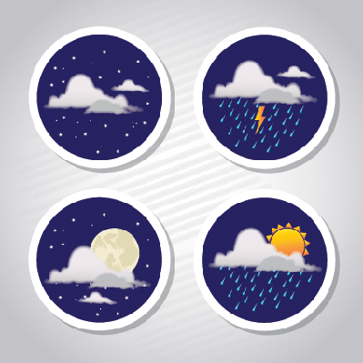 Weather Coins | Clipart