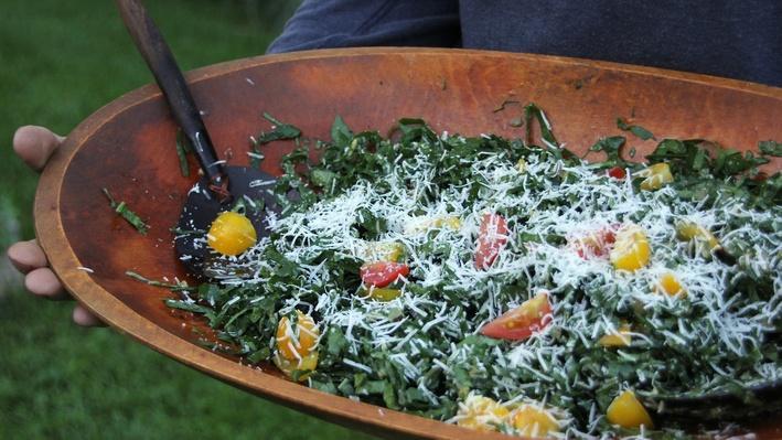 Shredded Kale Caesar Salad   Kitchen Vignettes