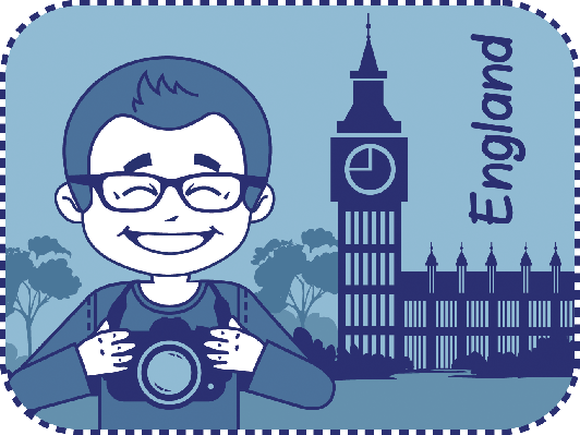 Teaser With Photographer Travels Through England | Clipart