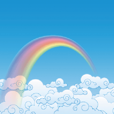 Colorful Rainbow With Cloud | Clipart
