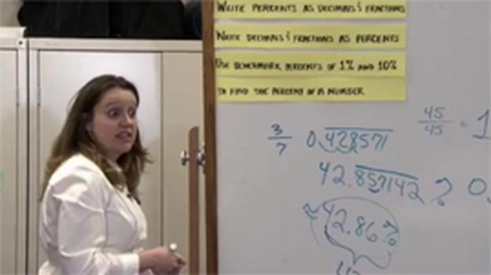 Inquiry-Based: Lesson Summary: Fractions, Decimals, and Percents