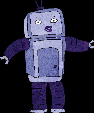 Funny Cartoon Robot | Clipart