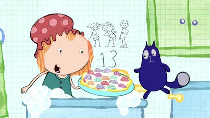 Math in the Bath: Rock Pizza | Peg + Cat
