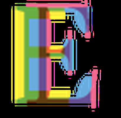 Four-Color Alphabet Letters - E   Clipart