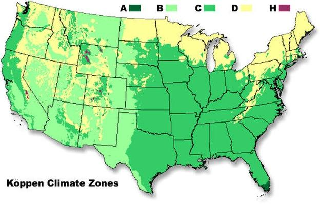 Major Climate Zones in the United States | QUEST