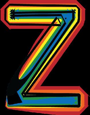 Colorful Font Letter Z | Clipart