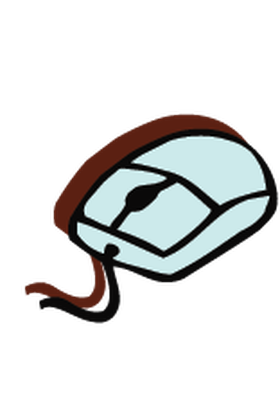 Electronics - Computer Mouse w/ Scroll Wheel | Clipart