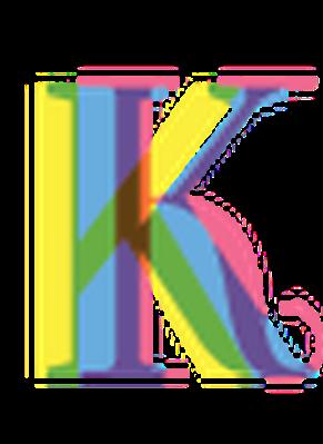 Four-Color Alphabet Letters - K | Clipart