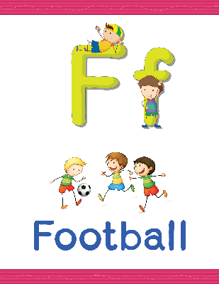 Alphabet Worksheets - F for Football | Clipart