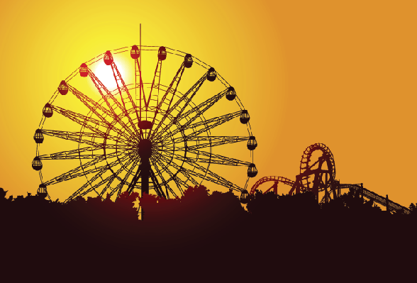 Ferris Wheel At Sunset | Clipart