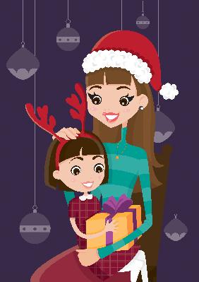 Christmas Gift for My Children | Clipart