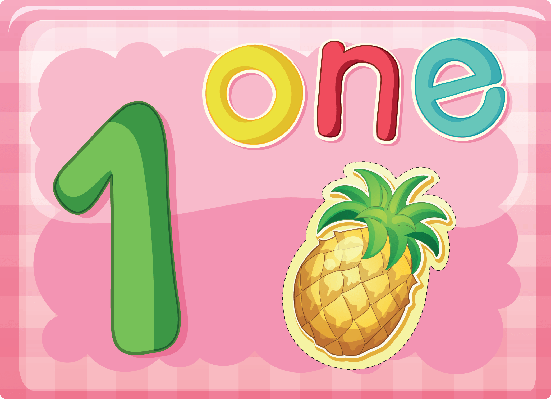 Number Cards - One | Clipart