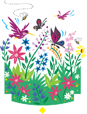 Spring flowers clipart the arts media gallery pbs learningmedia spring flowers flowers hummingbirds etc clipart mightylinksfo