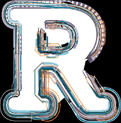 Font Illustration Letter R | Clipart