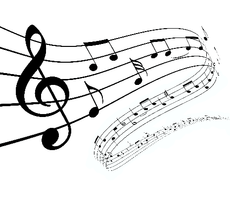3D Music Notes Dancing Away | Clipart